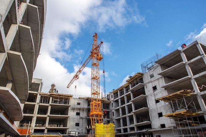 Crane Construction Bricks Concrete Building City
